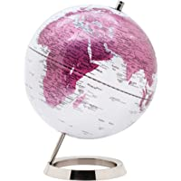 EXERZ Schülerglobus 25cm Globus mit einem Rostfreier Stahl in Englischer Sprache - Verpackung in hochwertiger Kraftbox…