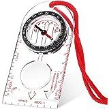 Boussole de Navigation Boussole d'Orientation Boussole de Scout Garçon Boussole de Randonnée avec Déclinaison Ajustable pour