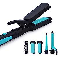 Havells HC4045 5 in 1 Hair Styler - Straightener, 19mm Curler, Crimper, Conical Curler & Volume Brush for Multiple…