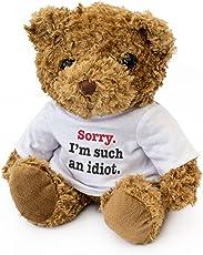 NEU - SORRY I'M SUCH AN IDIOT – Braun Teddybär – Niedlich Weich Kuschelig – Es Tut Mir Leid