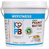 MYFITNESS Natural Peanut Butter Smooth 2.5 Kg (Unsweetened)