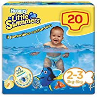 HUGGIES Little Swimmers Pannolini, Taglia 2-3 (3-8 kg), 1 Pacco da 20 Pezzi
