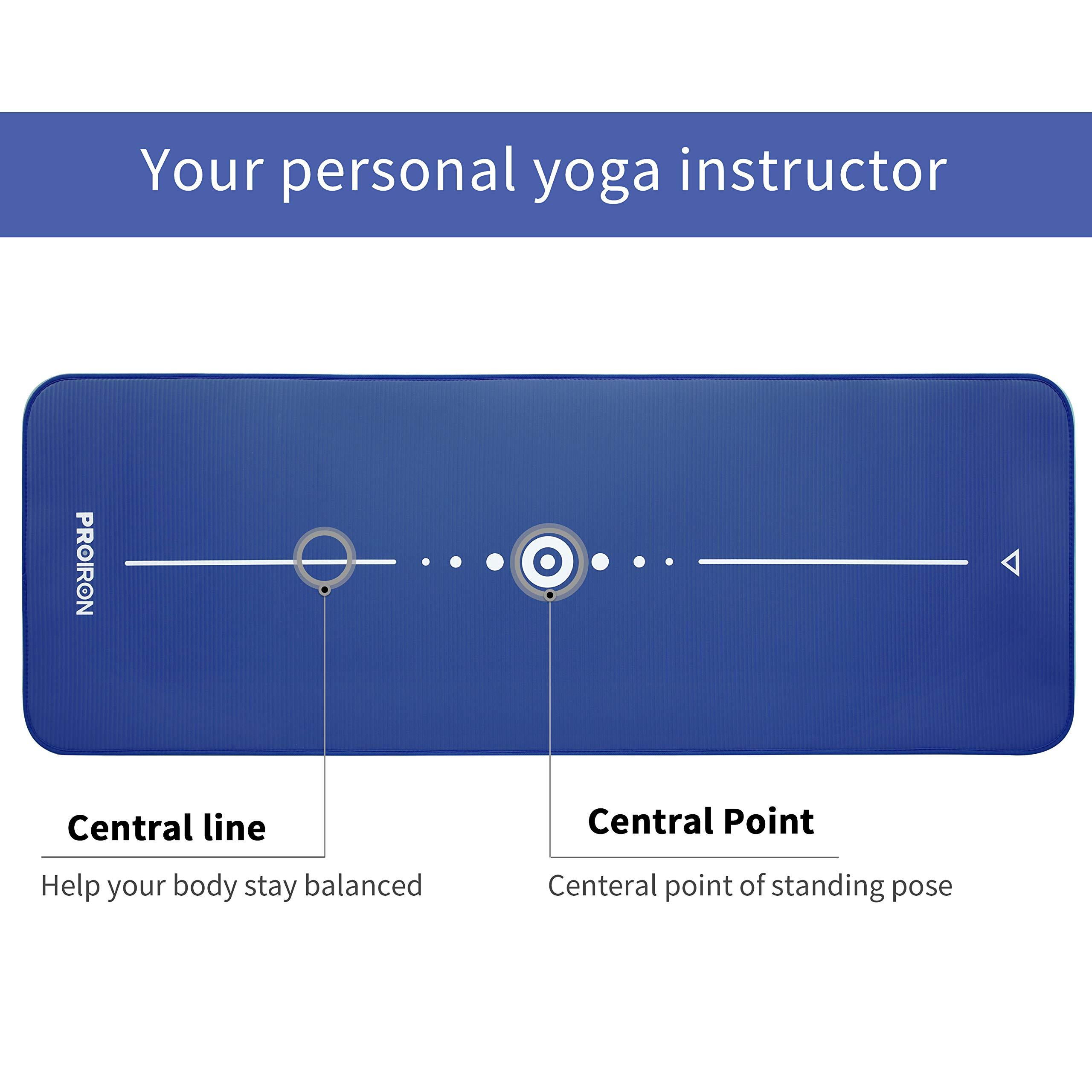 PROIRON Colch/ón para Yoga NBR Colchoneta Antideslizante Ideal para Pilates Ejercicios Fitness Gimnasia Estiramientos 183CM*66CM*1CM