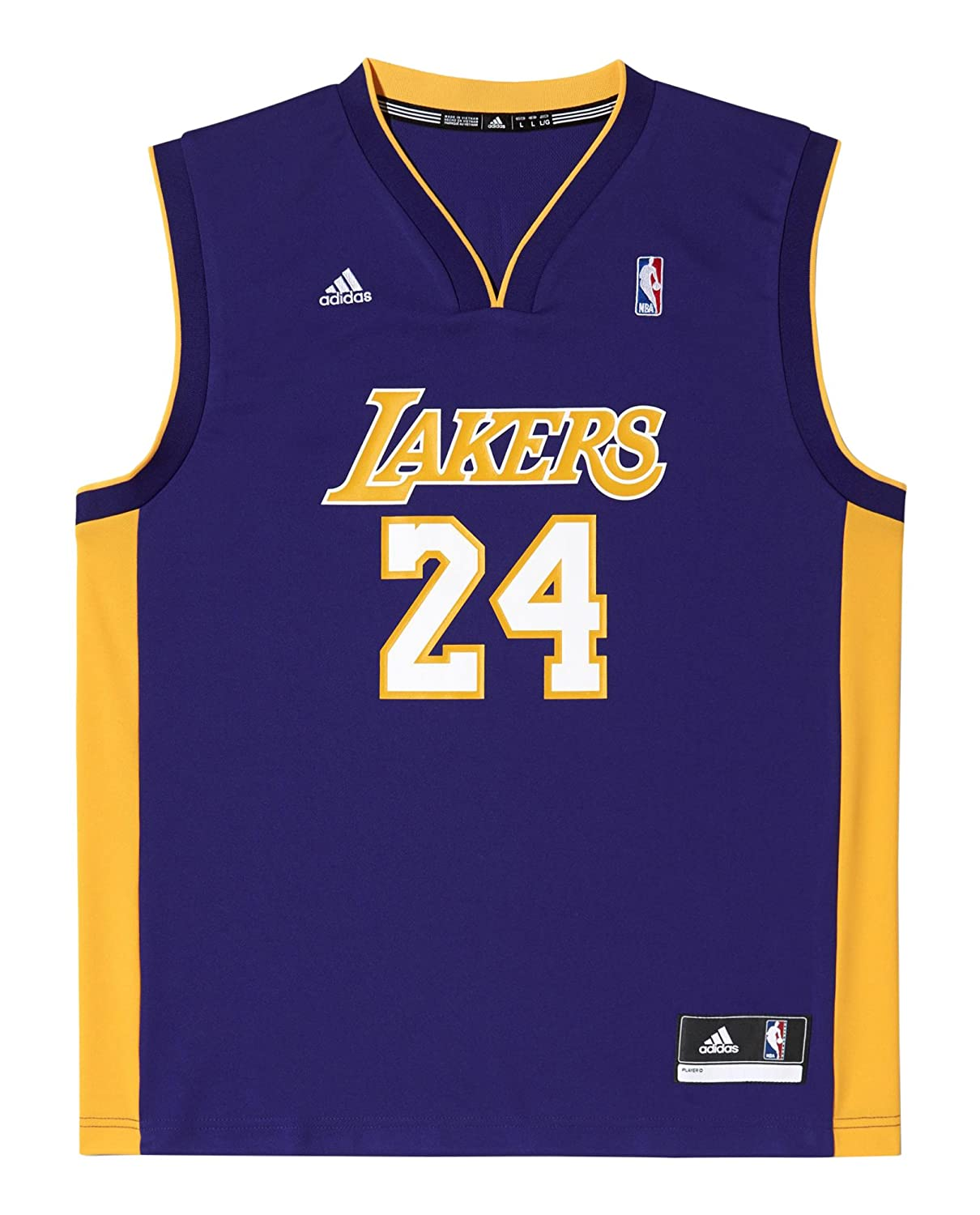 81cd69f5d9e8 ... adidas Kobe Bryant LA Lakers NBA Replica Mens Basketball Jersey  Amazon.co.uk Sports LOS ...