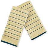 Spaces Exotica Ribbed 2 Piece 575 GSM Cotton Hand Towel Set - Desert Teal