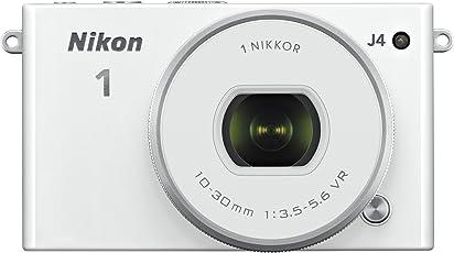 Nikon 1 J4 18.4MP Mirrorless Digital Camera with 1 Nikkor 10-30 mm f/3.5-5.6 PD Zoom Lens (White)