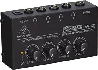 Behringer HA400 4-Channel Headphone Amplifier, Black