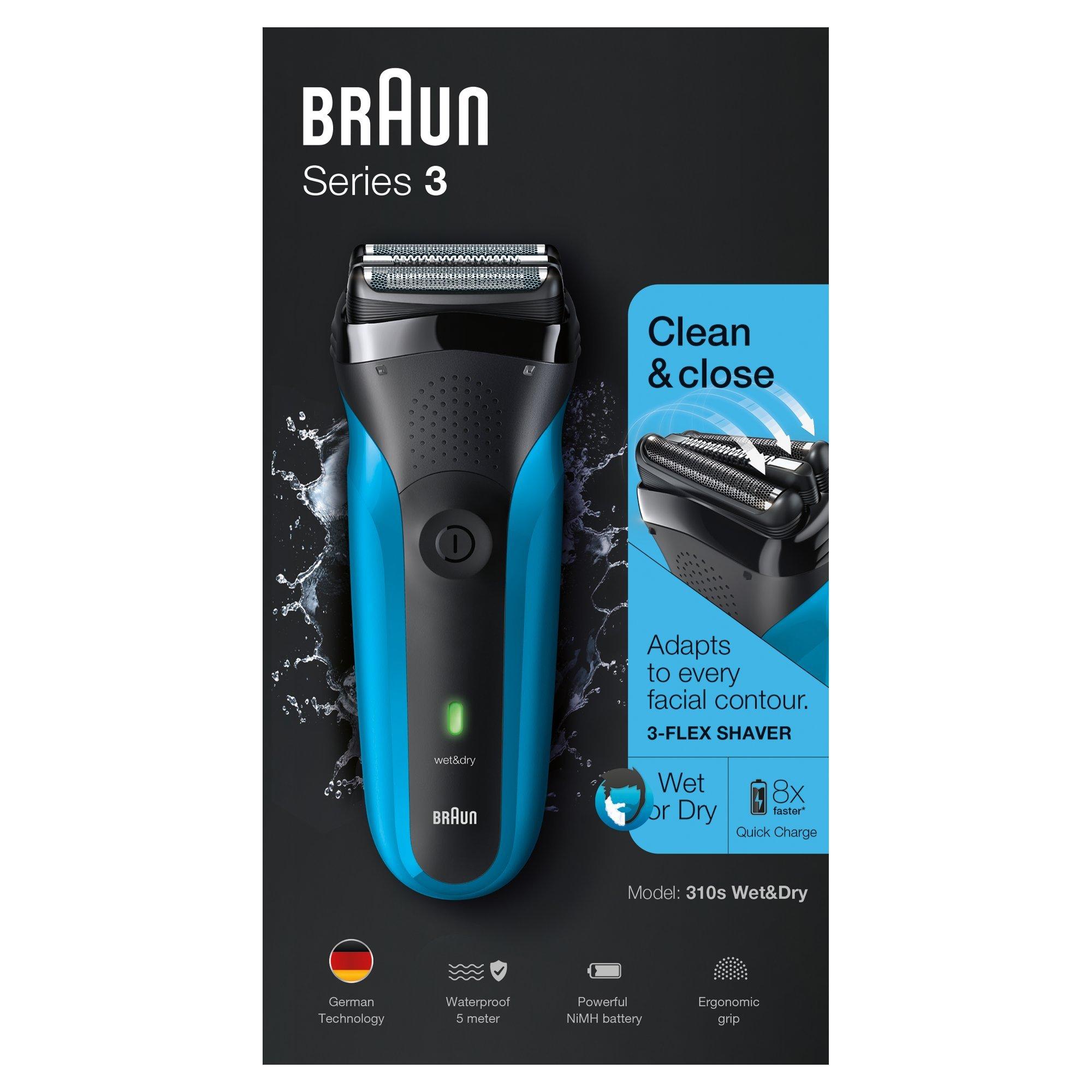 Braun Series 3 310s Wet   Dry – Afeitadora eléctrica para hombre  recargable 00678f50f6d7