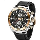 Benyar orologio uomo orologio cinturino pelle uomo cronografo al quarzo orologi da polso, Sportivo di Moda Business 30 M Impe