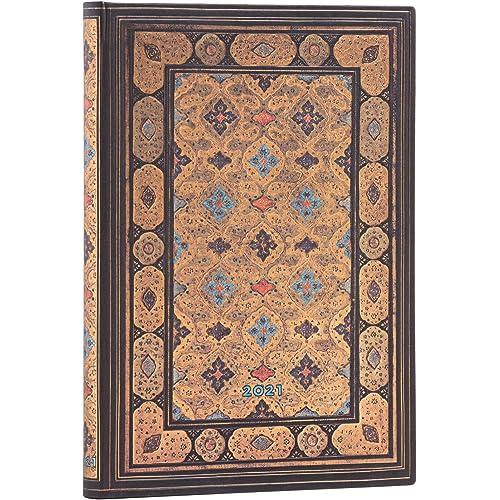 Paperblanks DI7096-2 | Agende 12 Mesi 2021 | Shiraz | Orizzontale | Midi (130 x 180 mm)