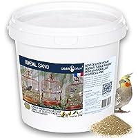 Chick'N Deluxe® Ideal Sand 5Kg. Sable Marin pour Fond de Cage à Oiseaux. Enrichi de coquilles d'huitres broyées et…