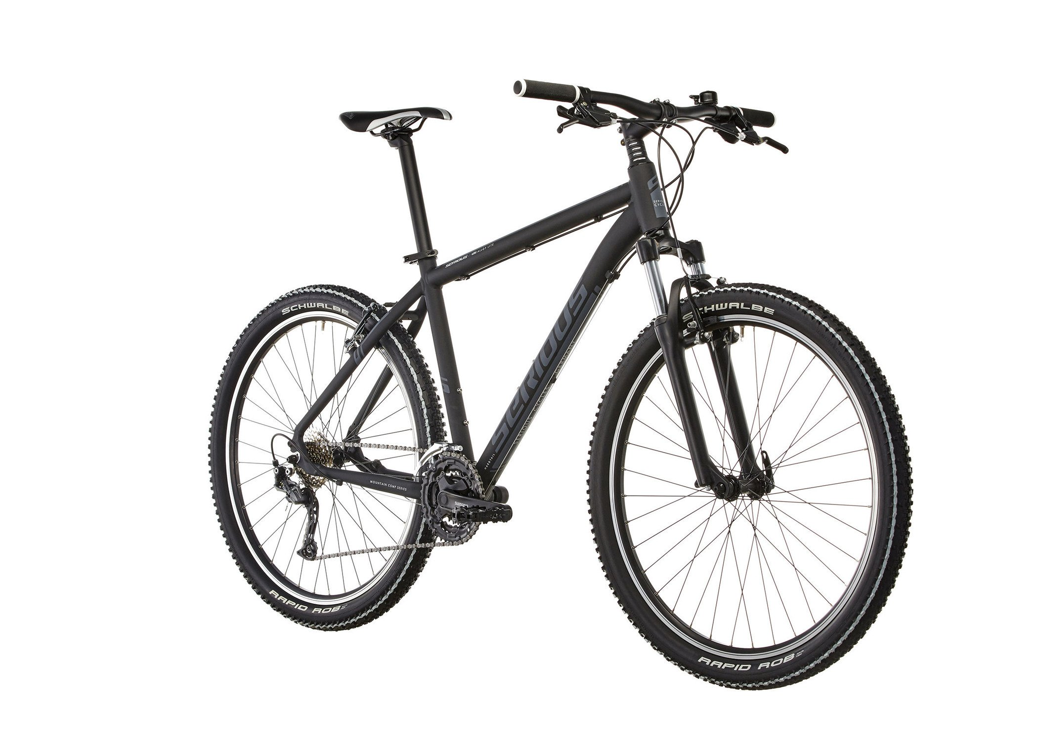"81xCafHL2lL - SERIOUS Ridge Trail 27,5"" mat black 2017 MTB Hardtail"