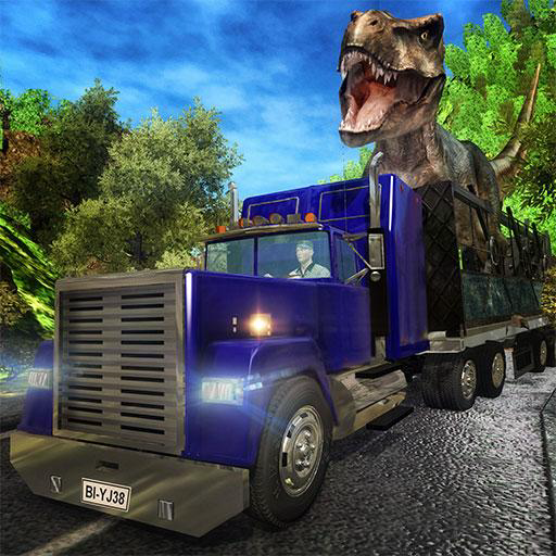 Angry Dino Transporter Truck Tycoon Sim: Wild Animal Transporter Monster Truck Driving Simulator Adventure Game
