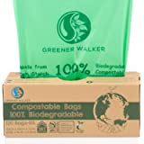 Greener Walker 25% Extra Thick Compost 6L/10L/30L Caddy Bin Liners-120 Bags Biodegradable Kitchen Food Waste Bags(10L)
