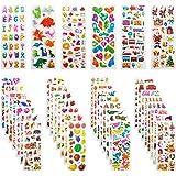 Adesivi per Bambini, Leenou 900+ Adesivi 3D Stickers per Puffy Adesivi per Regali Gratificanti Scrapbooking Inclusi Camion, A