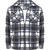 Inspire Me Mens Fur Padded Lumberjack Shirt Long Sleeve Material Machine Washable Decent Look Comfortable Feel