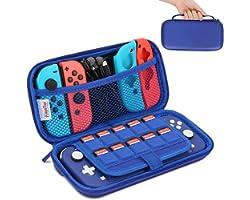 HEYSTOP Pochette Compatible avec Nintendo Switch Lite, Protection Coque Housse Étui de Transport avec 10 Boitier pour Carte d