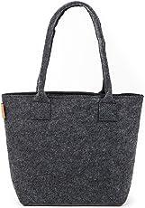stil-macher Premium Filz Shopper Design Shopping Einkaufstasche |Handtasche | Strandtasche | Einkaufskorb aus Hochwertigem und Robustem Filz | Größe 40cm x 30cm x 32cm …