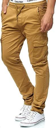 Indicode Uomo Broadwick Pantalone Cargo in Cotone con 6 Tasche | Lungo Regular Fit Pantaloni Casual da Trekking Pants Outdoor per Uomo