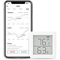 SwitchBot Thermomètre Hygromètre sans fil Capteur d'humidité et de température avec Alertes, pour Guitare, SwitchBot Hub…