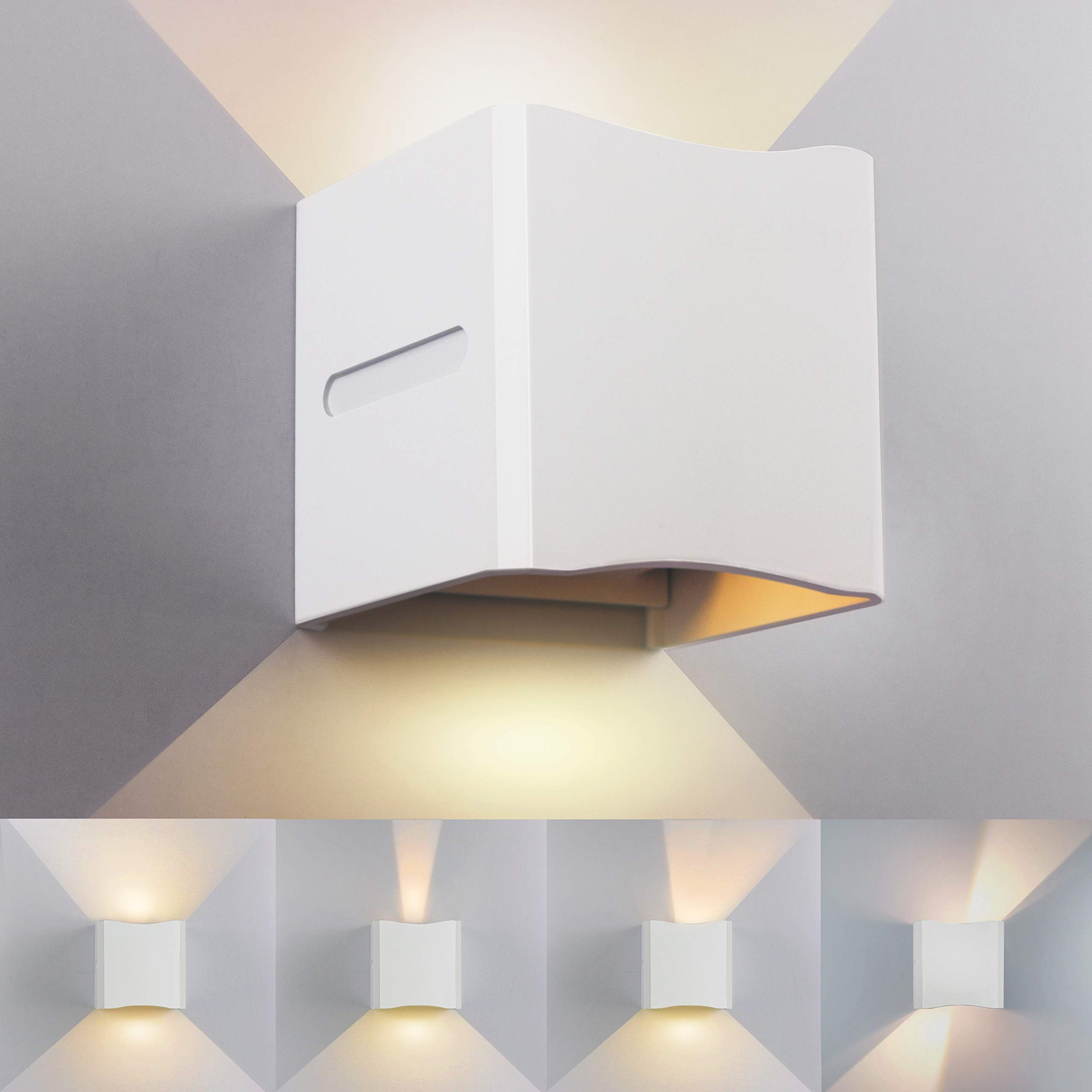 12w led applique murale exterieur interieur noire imperm able ip65 r glable lampe up and down. Black Bedroom Furniture Sets. Home Design Ideas