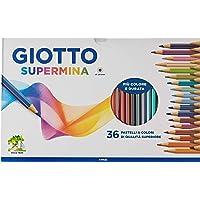 Giotto Supermina 36 pastelli a colori, assortiti, 36 Pezzi