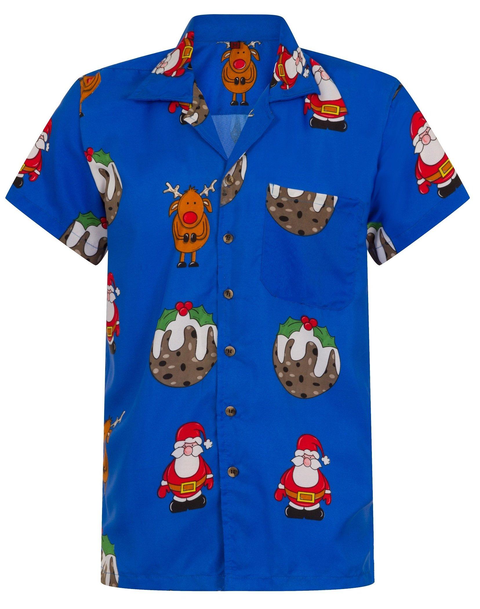 Christmas In Hawaii Party.Christmas Hawaiian Shirt Mens Santa Loud Hawaii Reindeer Xmas Party S M L Xl Xxl