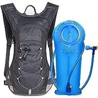 Unigear Trinkrucksack mit 2L Trinkblase Hydrationspack Fahrradrucksack für Joggen, Wandern, Radfahren, Camping und Bergsteig MEHRWEG
