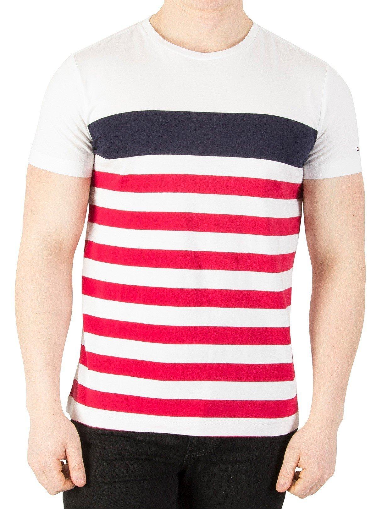 Tommy Hilfiger NAS STP C-nk tee S/S RF Camiseta para Hombre