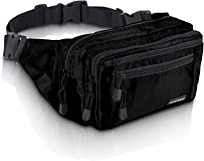 VAN BEEKEN Bauchtasche Hüfttasche Gürteltasche mit 2 Hüftgurten für Damen und Herren - wasserabweisend und reißfest – Outdoor Gurttasche zum Wandern Reisen Urlaub I Hip Bag, Bauchbeutel