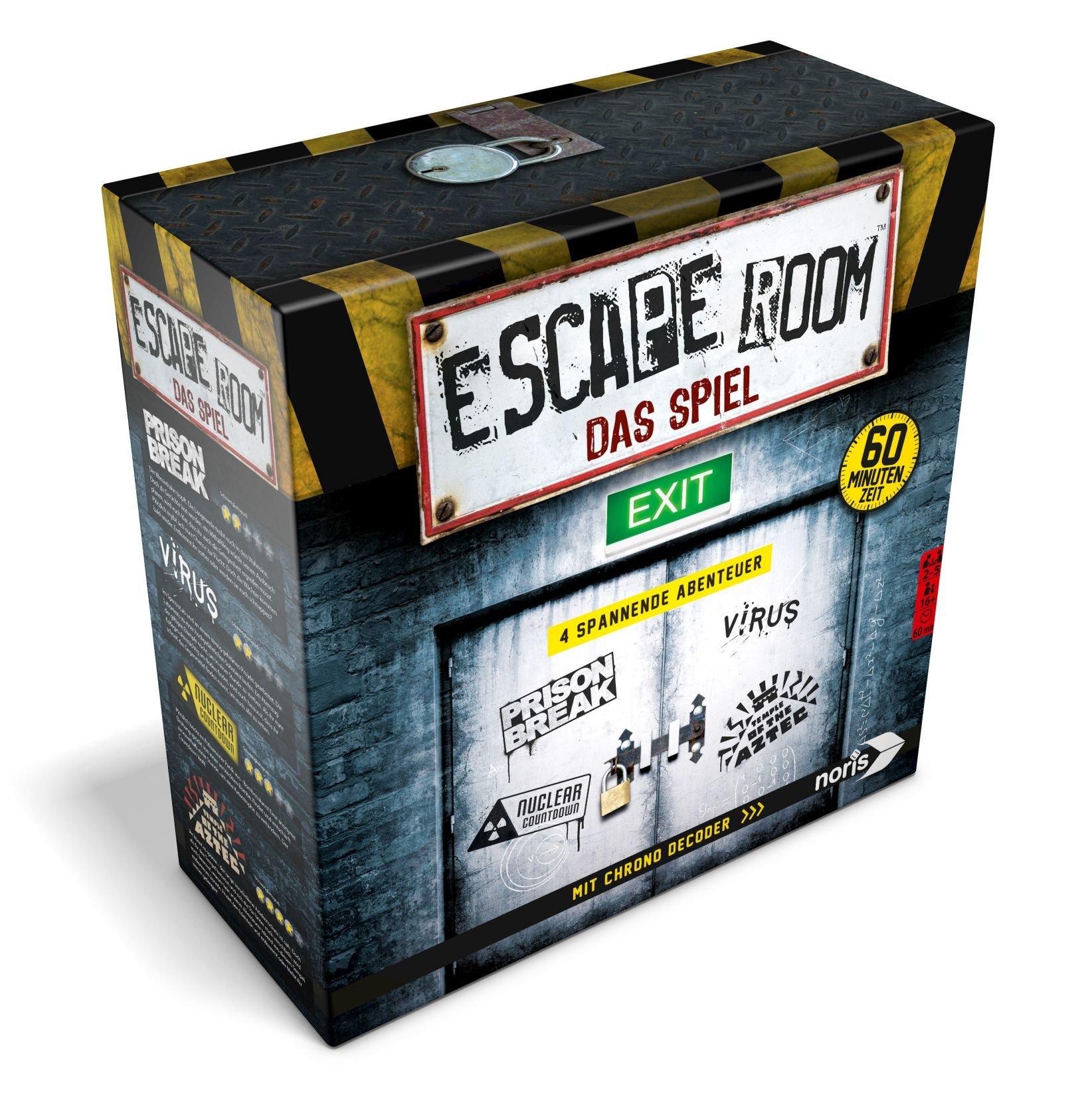Noris Escape Room (Grundspiel) - Familien und Gesellschaftsspiel für Erwachsene, inkl. 4 Fällen und Chrono Decoder, ab 16 Jahren