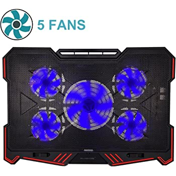 WOWLED Upgrade Cooling Fan, USB RGB LED Cooler, Pad Stand