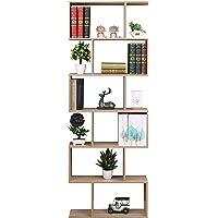 ETNIC ART - Bibliothèque de bureau, moderne et contemporaine, double face, en bois, pour CD, étagère moderne, chêne – 70…