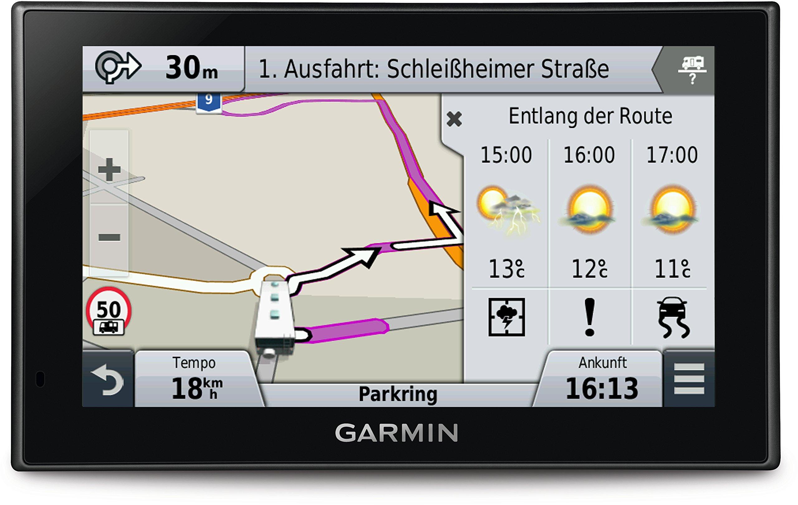 Garmin-camper-660LMT-D-EU-Navigationsgert-lebenslange-Kartenupdates-DAB-Hhenprofil-152cm-6-Zoll-Touchscreen