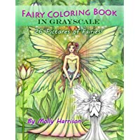 Fairy Coloring Book in Grayscale - Adult Coloring Book by Molly Harrison: Flower Fairies and Celestial Fairies in…