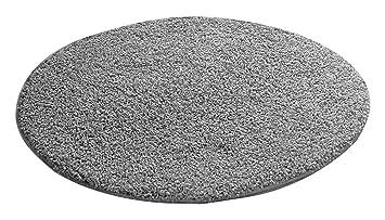 Teppich hellgrau rund  benuta Shaggy Hochflor Teppich Swirls Grau ø 80 cm rund | Langflor ...
