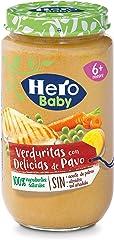 Hero Baby Tarritos de Verdura con Delicias de Pavo - Para Bebés a Partir de los 6 meses - 235gr