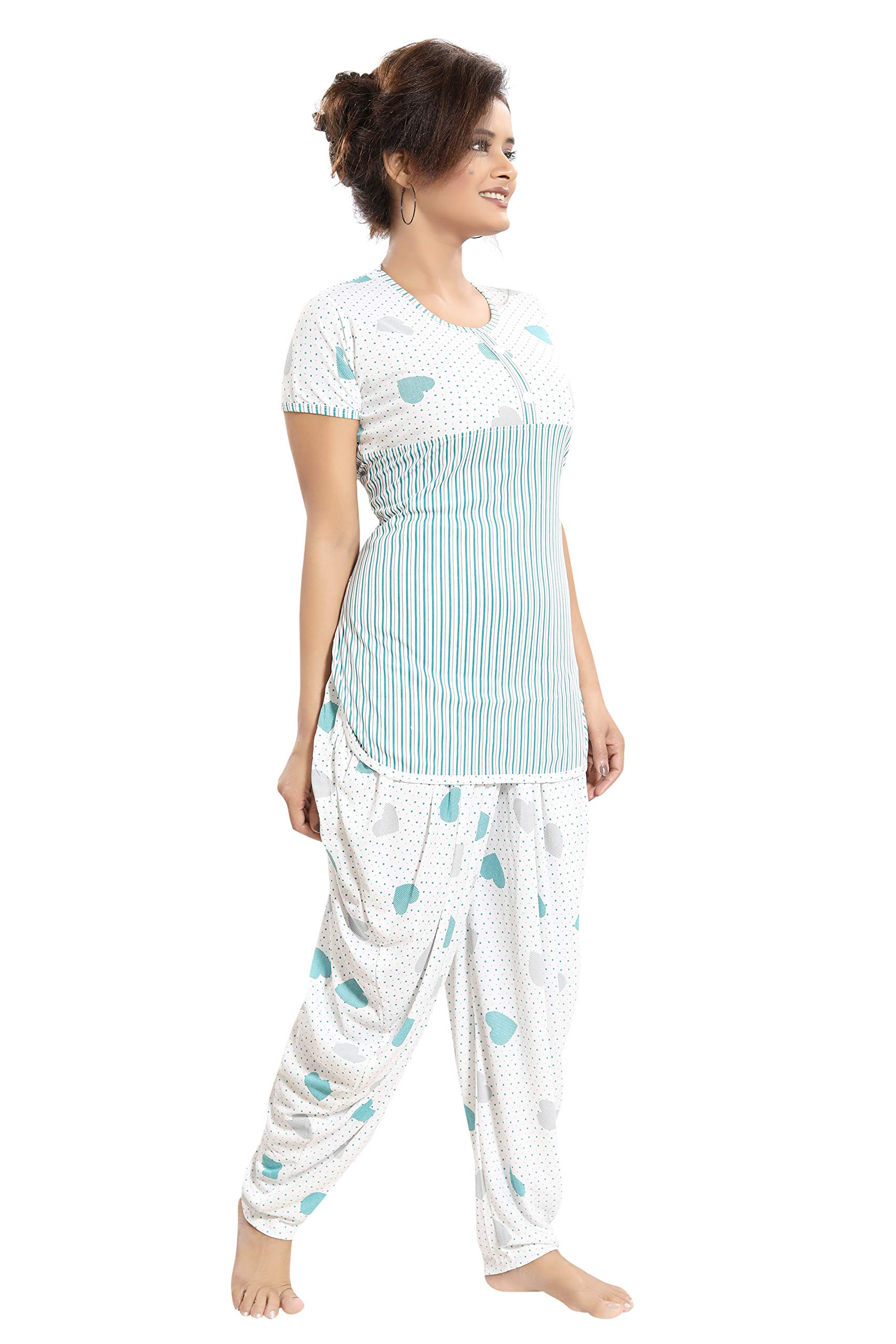 2a29d63b423 TUCUTE Top and Dhoti Style Bottom Night Suit Nighty Nightdress Night Gown  for Women ...