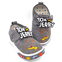 Urbanfeet Unisex Chu chu Sound Walking Tom & Jerry Shoes for Baby Boys & Baby Girls | Age Group 9-24 Months | Blue…