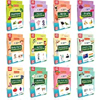 Spartan Kids Flash Cards For Kids (Set of 12) Early Learning Flash Cards Easy & Fun way of Learning 1 Year to 6 Years…