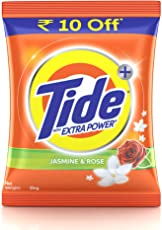 Tide Plus with Extra Power Jasmine & Rose Detergent Washing Powder - 1kg Pack (Rupees 10 off)