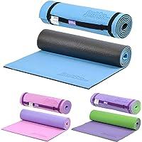 just be... Tappetino Fitness - Tappetino Yoga - Tappeto da Palestra Antiscivolo - Materassino da Campeggio con Cinghia Tracolla Tappeto Pilates 180 cm x 60 cm - Spessore 10 mm