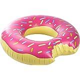 Ultrakidz, bouée géante donut, coussin flottant, jouet de baignade XXL en forme rigolote de donut, diamètre d'env.114cm, convient à partir de 15ans, en PVC solide, gonflable