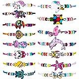 15 Pièces Bracelets Fille Bracelet Papillon Chat d'Amitié Licorne Animaux pour Soirée Cosplay de Prix (Style Classique)