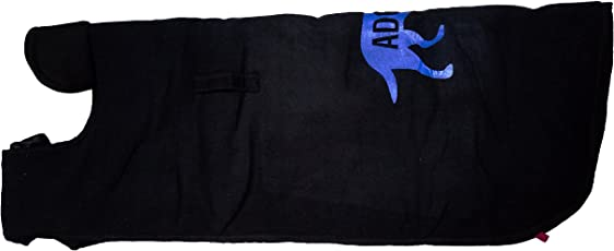 Petshop7 Black Velvet Printed Dog Coat / Dog Jacket Coat / Winter Pet Dog Clothes - Indoor & Outdoor - (10inch(Xtra Small))
