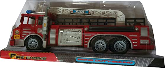 S S Traders - Fire Engine Pull Back Truck Toy with Light and Sound Features for Kids