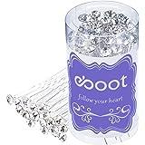 Set di 40 forcine per capelli da matrimonio con strass in cristallo bianco con relativa custodia.