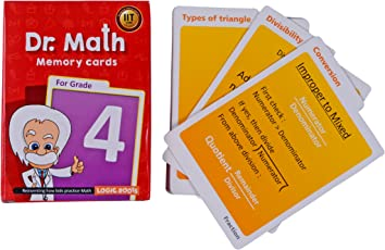 Dr Math (Grade 4) - Memory Flash Cards for Grade 4 Maths for Concepts, Clarity and Recall