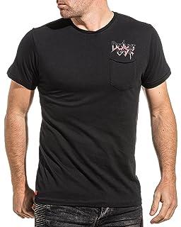 3f5a4d7e36a0 Deeluxe 74 - T Shirt Homme Blanc imprimé Squelette Fashion - Couleur ...
