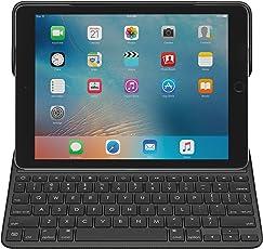 Logitech iPad Pro 9,7Zoll Tastatur-Case (Create mit beleuchteter kabelloser Tastatur und SmartConnector 1. Generation, QWERTZ Deutsches Tastatur-Layout) schwarz